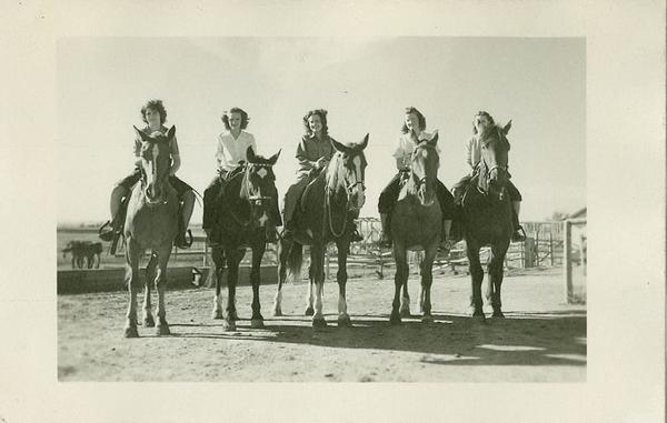 women on horseback