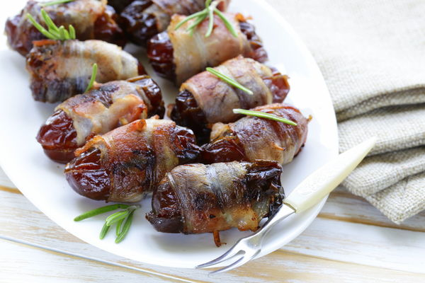 Bacon-Wrapped Blue Cheese-Stuffed Dates