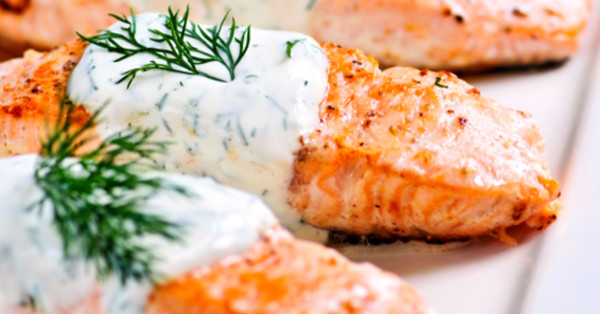 ... Baked Salmon Recipe! The Creamy Dill Sauce Is SO GOOD! – 12 Tomatoes