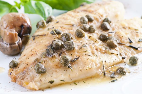 Pan seared halibut with lemon sauce 12 tomatoes for Halibut fish recipes
