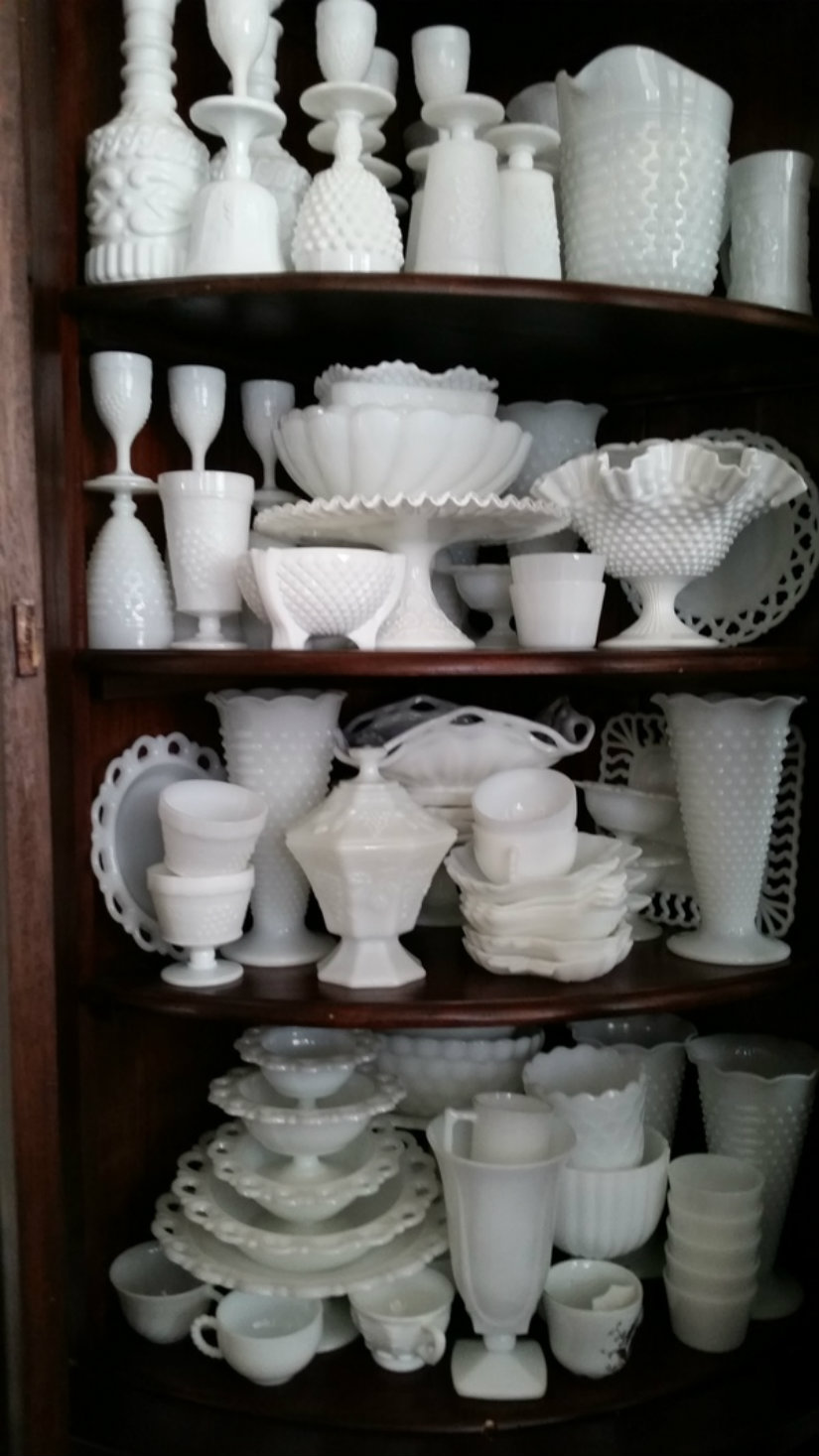 From Linda Simmons: Milk glass collection