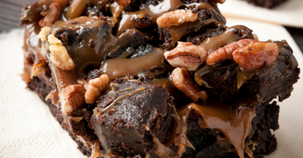 3layer salted caramel brownies