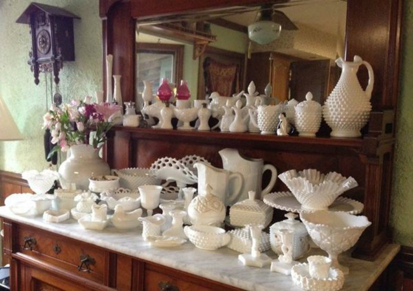 From Genevra Boucher: Years of collecting Milk Glass too. Glad to see people are becoming aware of the very interesting glass items.