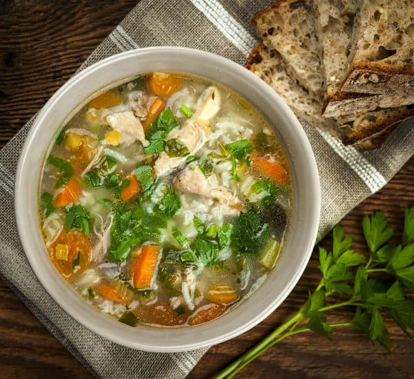 Veggie-Filled Soup Recipe: Hearty Chicken And Rice Soup