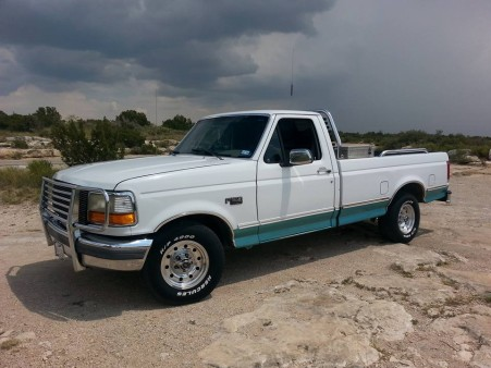 My '95 Ford F-150 XLT 215,000 original miles. 351cid