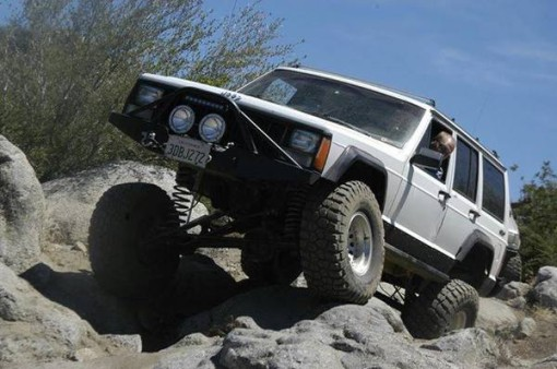 Fun in Corral Canyon (SoCal) in my 89 XJ