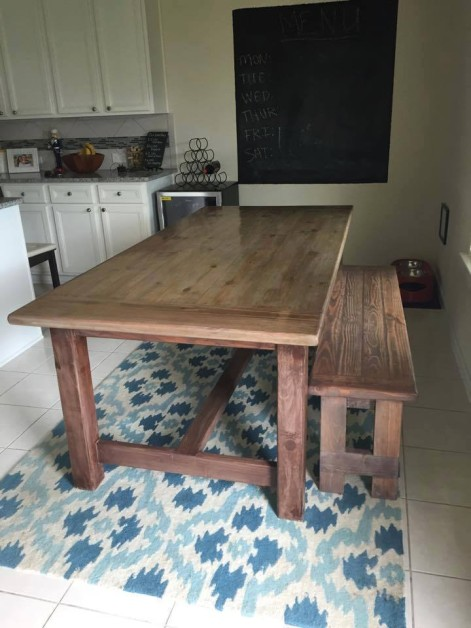 Farmhouse Table and Bench.