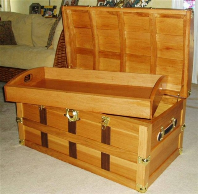 Hickory steamer trunk