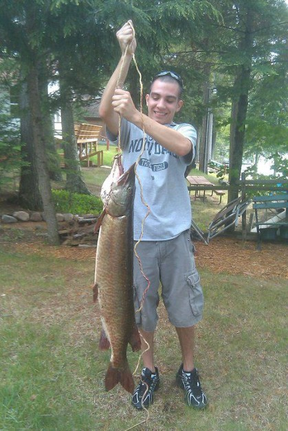I cant forget about my 42in muskie, again off the pier caught 2 summers ago. ripped my lure in half. minocqua WI