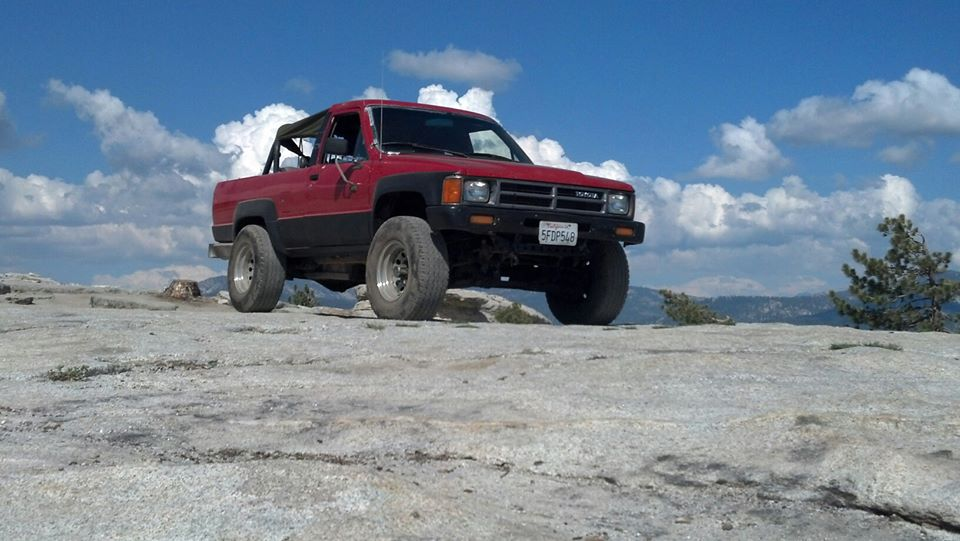 4runner on Bald Mountain in CA
