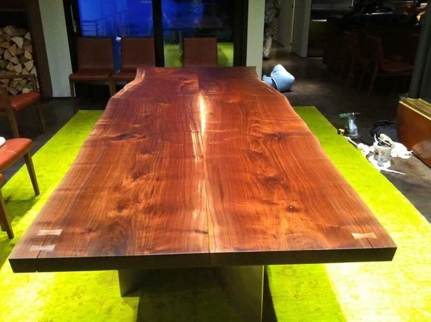 Black walnut table I made few years back.