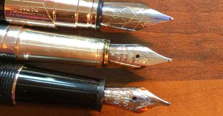 Pens by Waterman, Yard O'Led, and Mont Blanc / Via Sarah Pollock