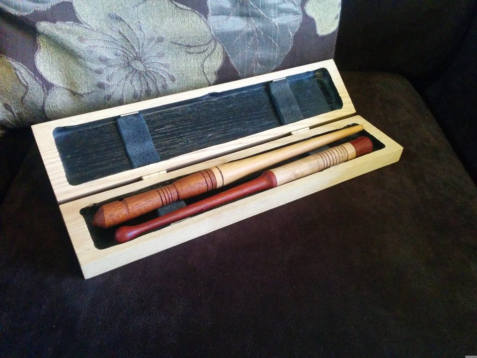 Finished a pair of wands and carry case for Round Table to gift to a brave young man later this week.