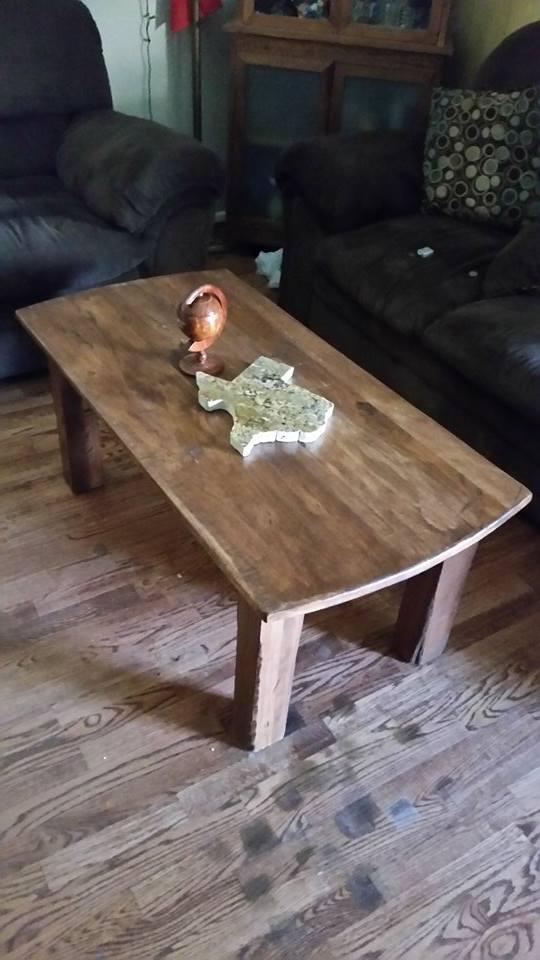 Hickory  table hand scraped  #texashickory