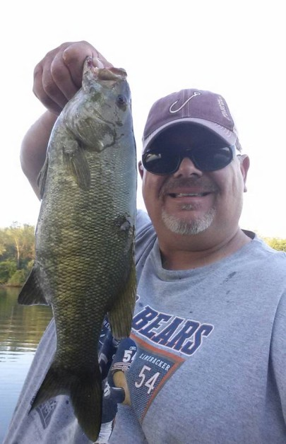 18 smallmouth  (one of my best for today)....Little Calumet River, Chicagoland area