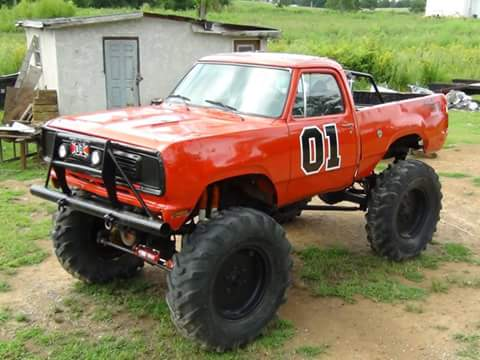 My 1977 power wagon with a 440 engine pushing around 500 H.P. manual 4-speed transmission , 2 1/2 ton Rockwell axles with 50 tractor tires and front and rear steer