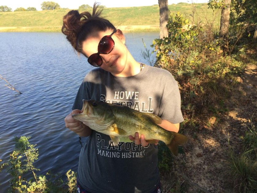 My girlfriend caught this one in Denison, Tx right around 3lb
