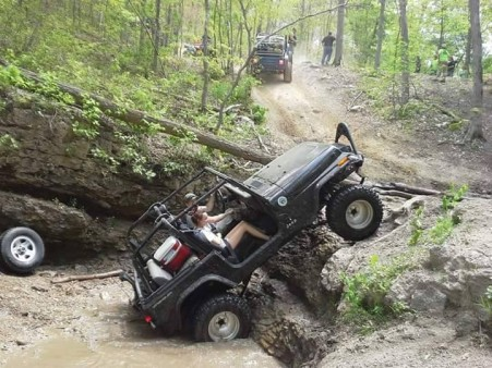 My daughter and I doing some rock crawling in Missouri.