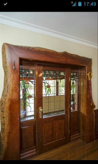 This is an entrance I built for our b&b cottage. Made from River Redgum at Murray Bridge. South Australia.