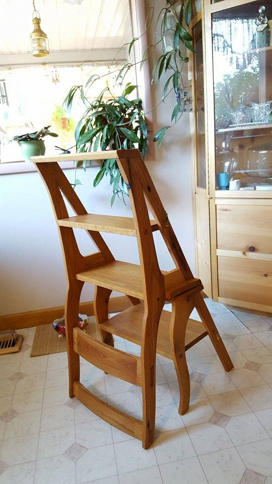 Here is a kitchen/library chair I made from reclaimed oak pallets