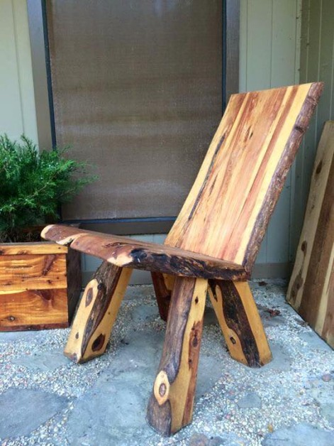 Cedar leaner. By Robin Matthews deadwood furniture