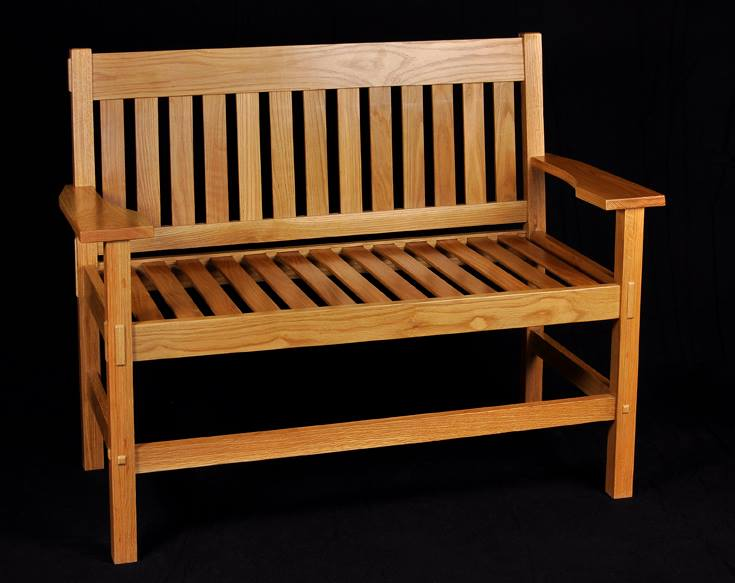 From Ronnie Atkins: White Oak Craftsman style bench.