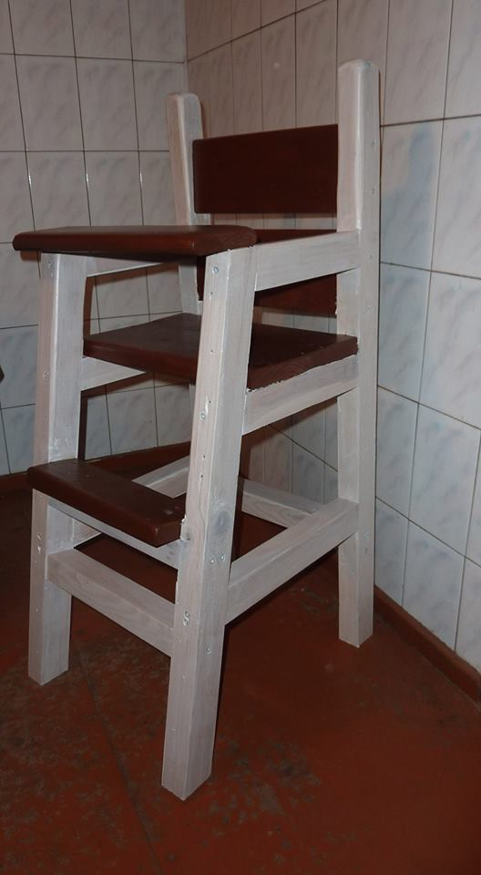 From Aivaras Sakalauskas‎: My first project: high chair for my son.