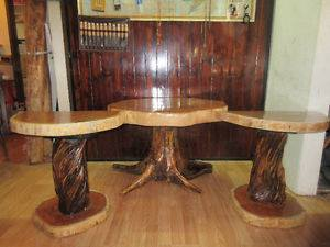 From Daniel Walker: These tables are made out of tamarack wood.