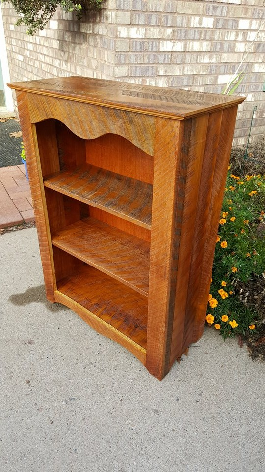From Emmett Moore: Book shelf from flooring in a 120 year old attic