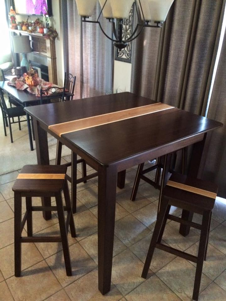 From Gary James‎: Peruvian walnut bar height table. Happy customer on thanksgiving.