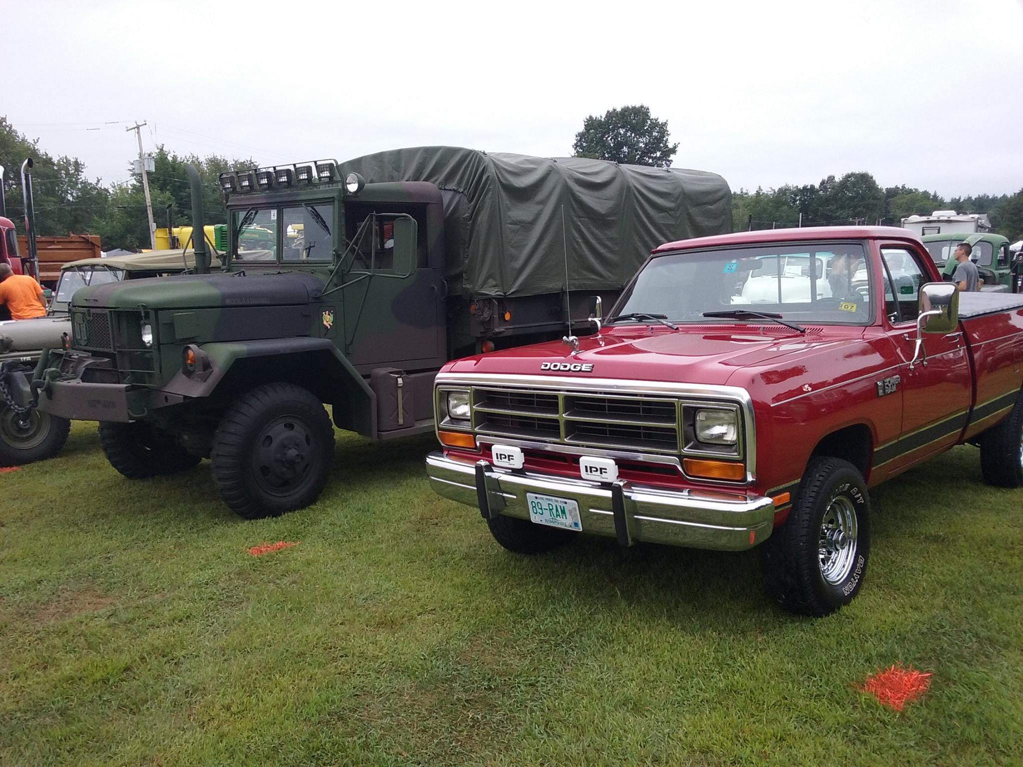 From Stephen Cahill: My two girls, 72 M35a2C and 89 Dodge Ram W-150.