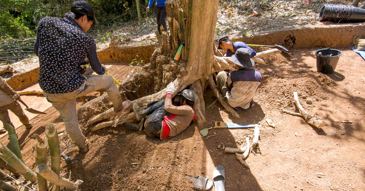 Worker for the Defense POW/MIA Accounting Agency excavate a site in Vietnam in 2014 / Via DPAA