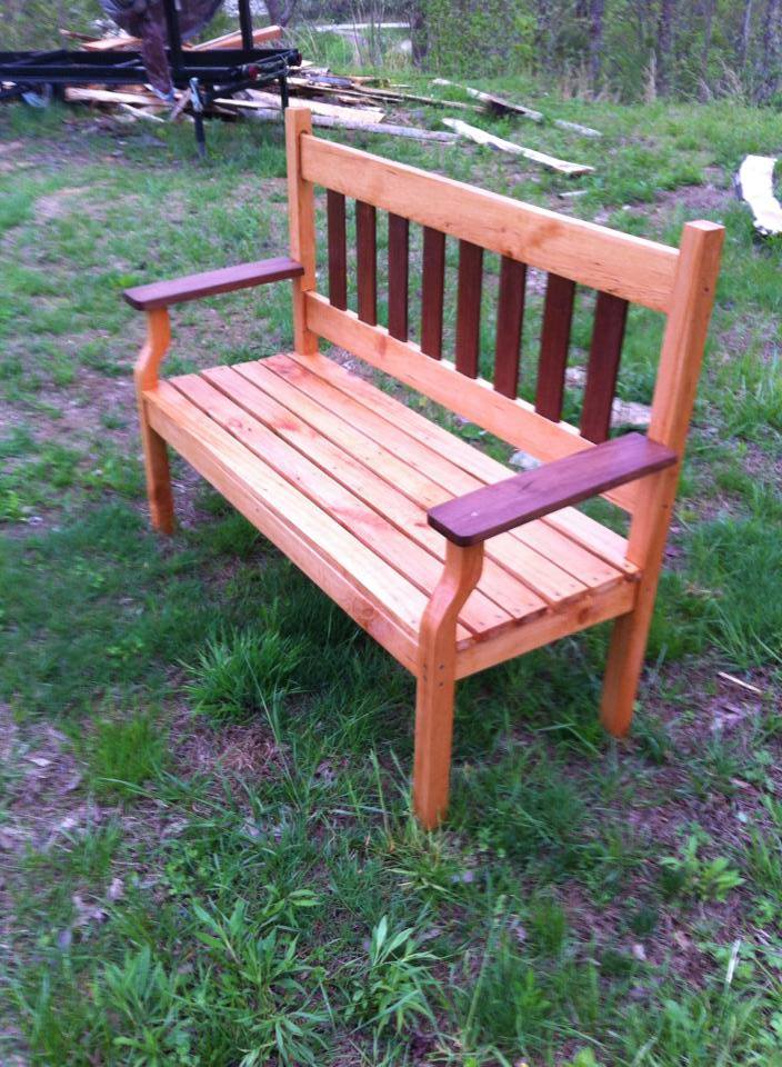 From JerryandTracy Banks‎: black walnut and cherry garden bench j&j wood products Jackson kentucky