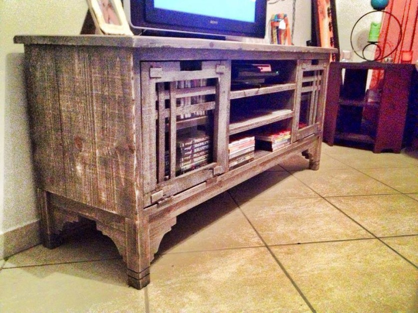 From David St-John Brand: Finished this plasma unit from reclaimed Baltic pine.