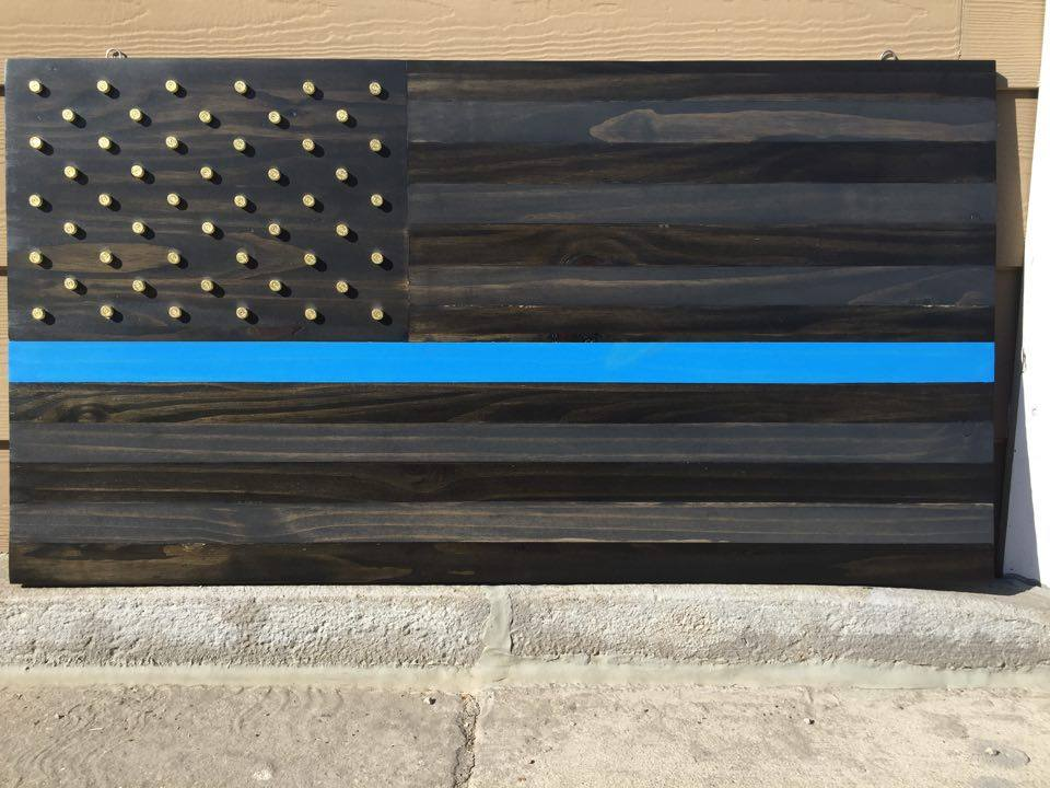 From Tanner Henry: Back the blue American flag I built for a benefit auction.