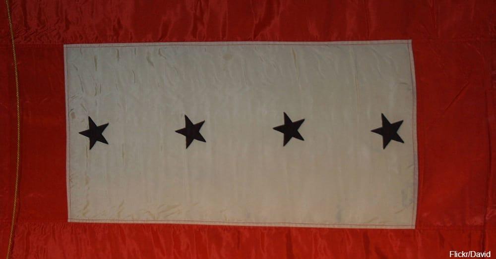 """Blue Star Service Banner"" / Via David"