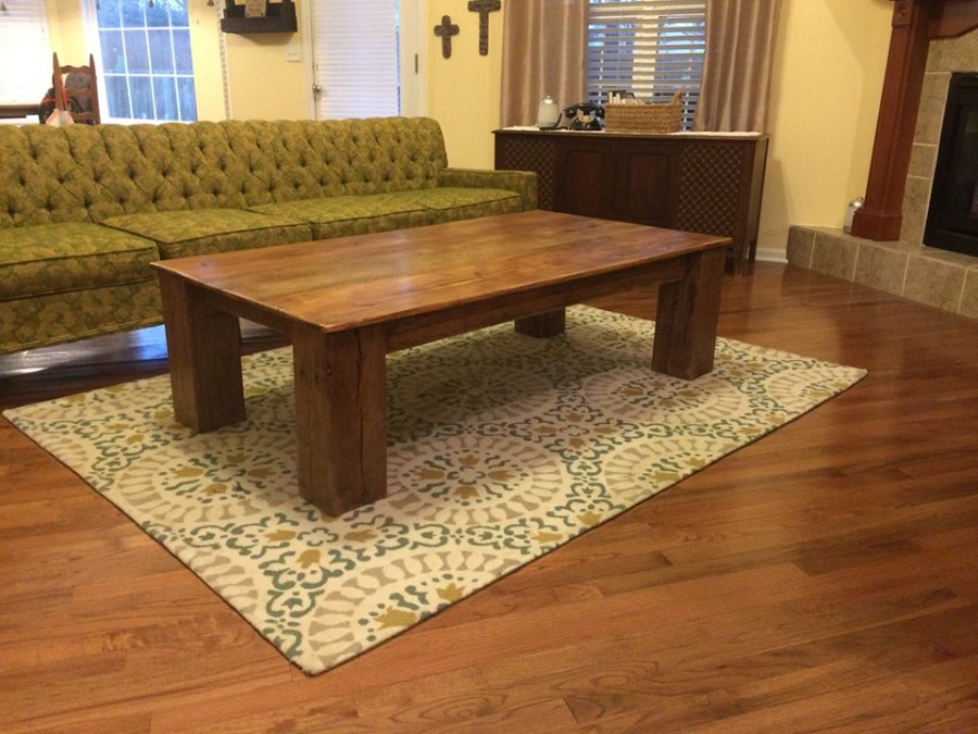 From Derik Chase: Coffee table I built out of barnwood