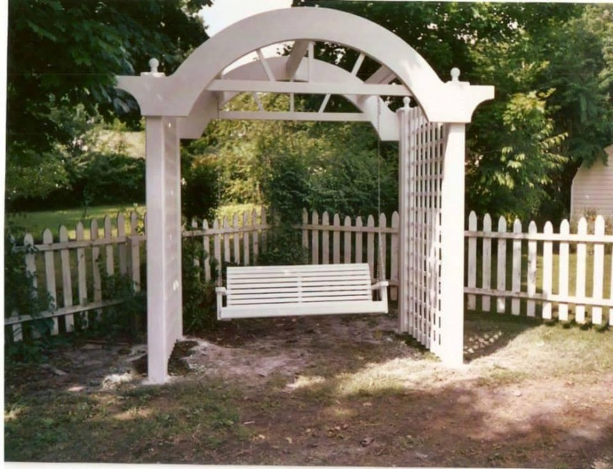 From Glenn Arledge: This is a Pergola and swing that I built.