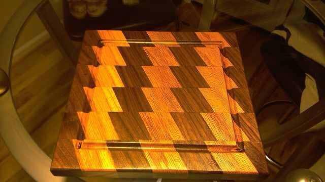 From Jeff Smith: Cutting board or fruit plate 12 x12  Jeff Smith Shippensburgh,Pa