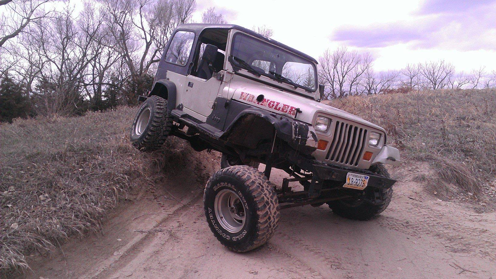 From Justin Cochrane: Flexin in the jeep, in Nebraska