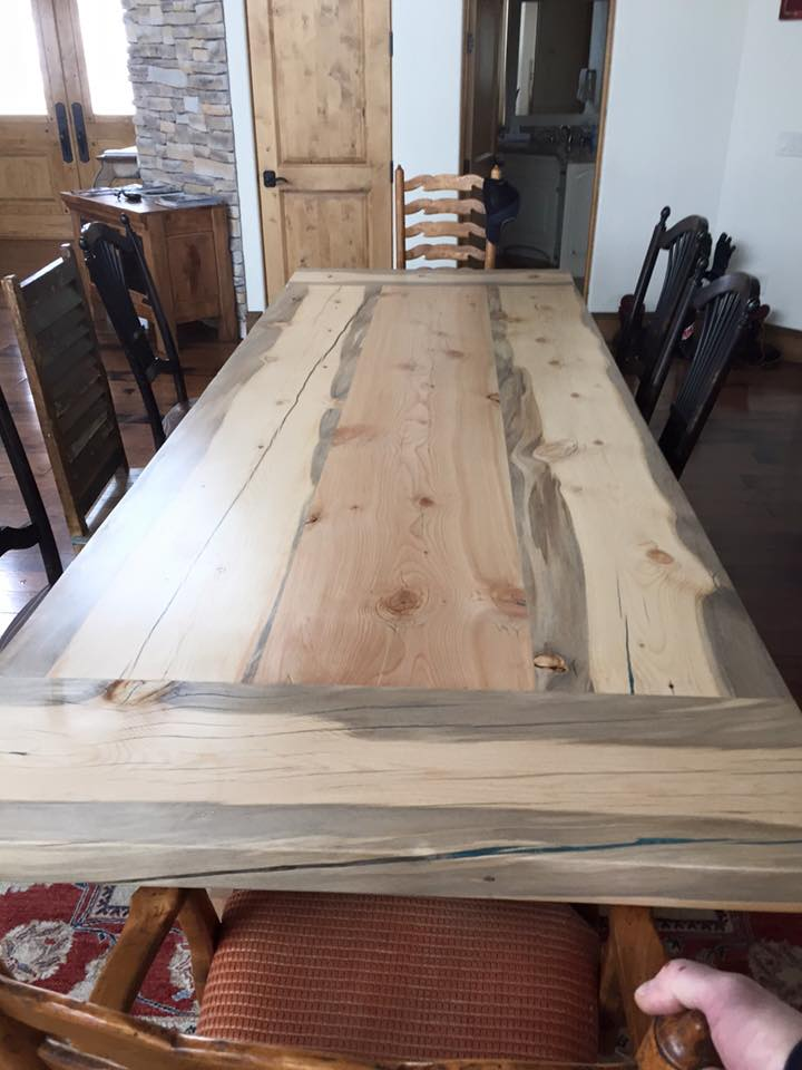 From Luke Schueneman‎: Pine pine table I just got done putting together.