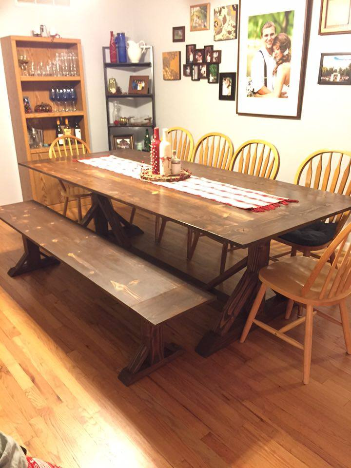 From Robert Miller: Here's a table we did for a husband and wife out here in Fresno, CA.