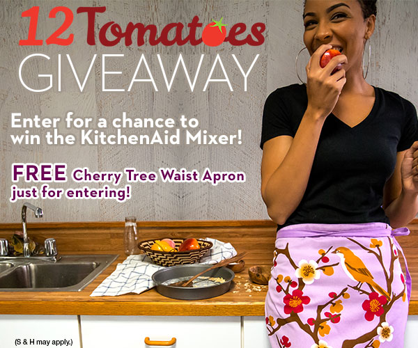 Enter the 12Tomatoes Giveaway for a Chance to Win a KitchenAid Mixer!