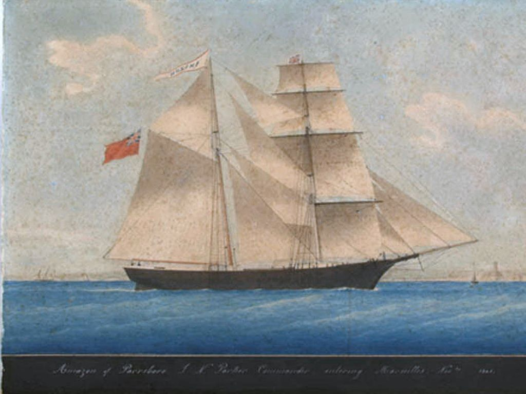 An 1861 painting of Mary Celeste. From: Wiki Commons