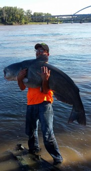 From Anthony Jacoby‎: 98 lb blue Missouri River ! Rod and reel CPR'D