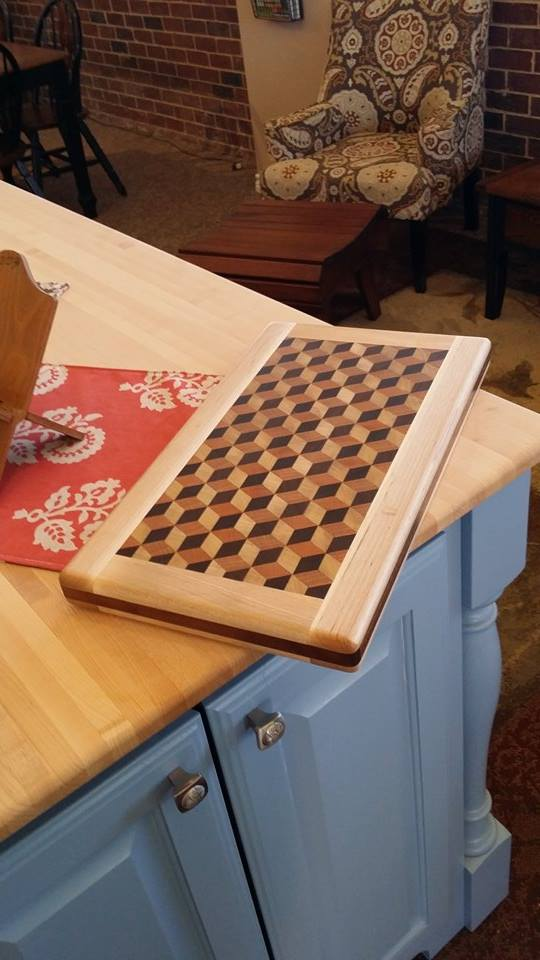From Bobby Childers: Cutting board by Bobby Childers of Red Fern Woodworking and Renovations.