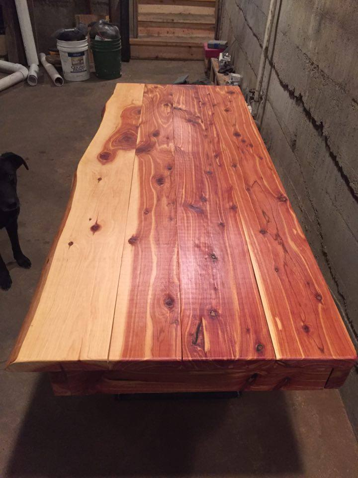 From Carlos Marinho: I just finished this red cedar desk.