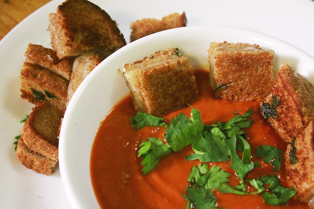 Grilled Cheese Croutons – 12 Tomatoes