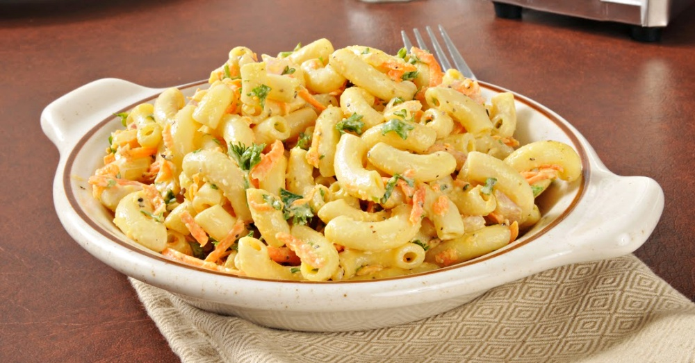 Chilled Macaroni Salad With Vegetables And Cheese – 12 Tomatoes