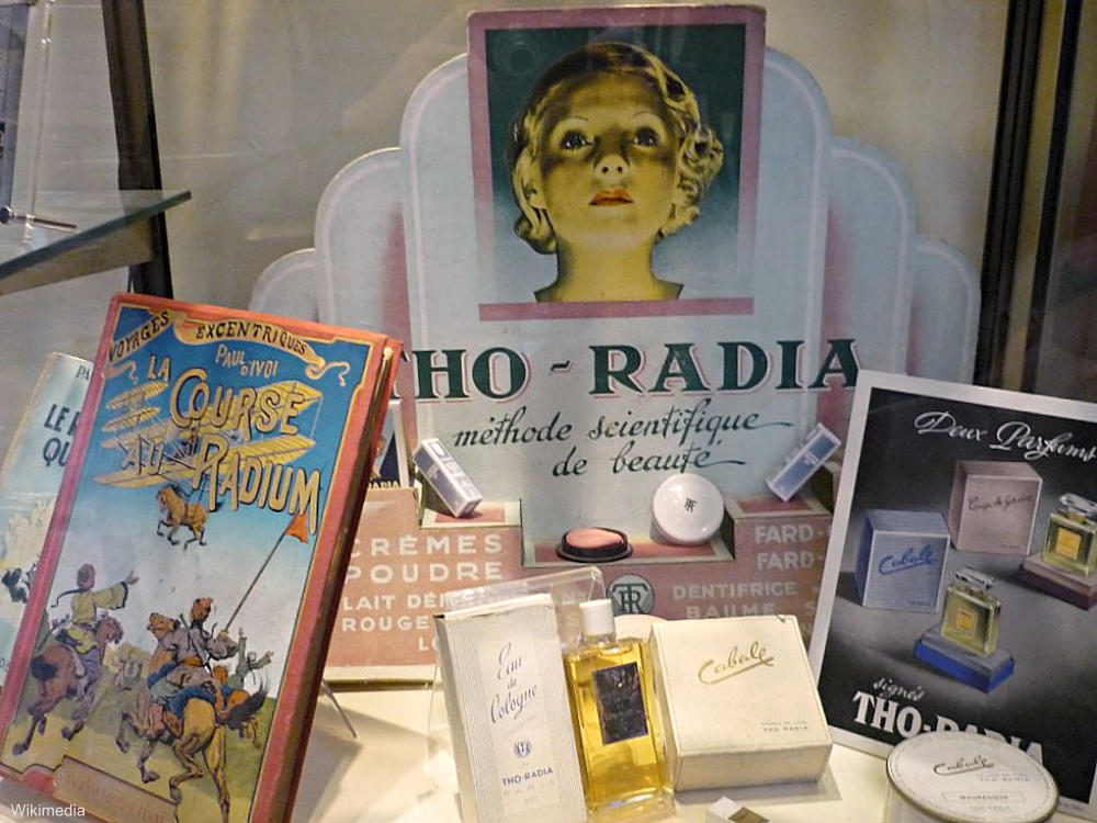 Radium Products Display at the Marie Curie Museum, Paris